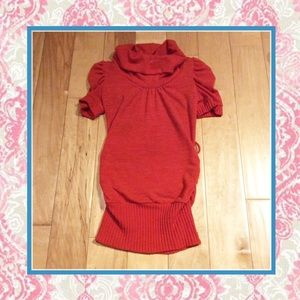 Sweaters - 🌺 Orange red Long high neck shirt sleeve sweater